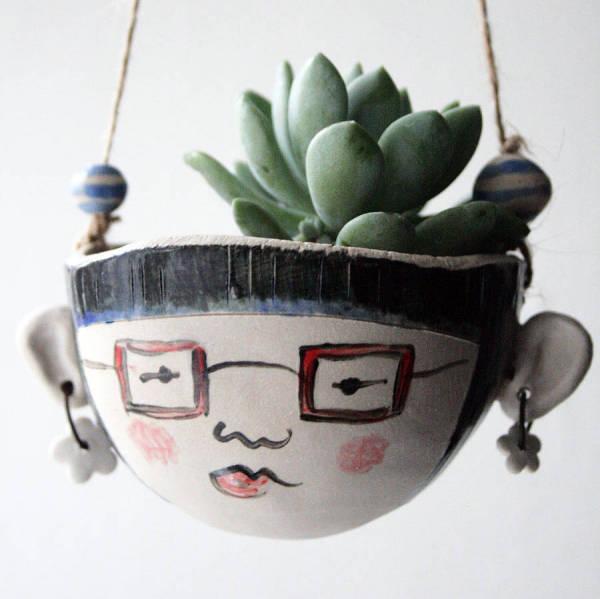 Кашпо Mathilda. Керамика.