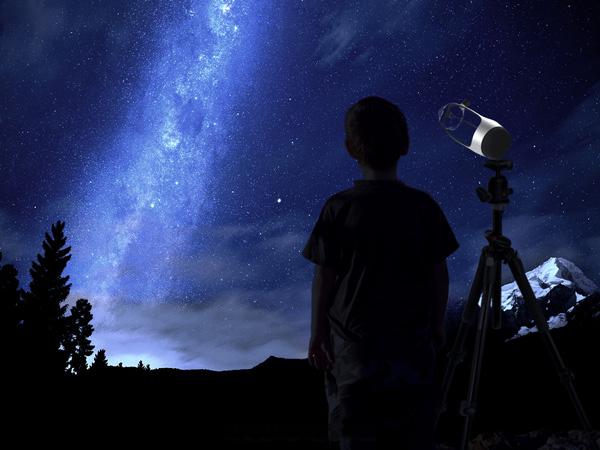 Астрономический телескоп Ньютон.