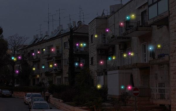 Ночная иллюминация. Прищепки-светлячки.
