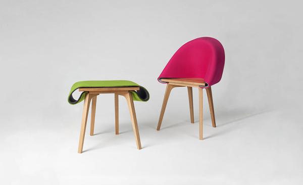 Nuno-стул - эргономичный предмет мебели.