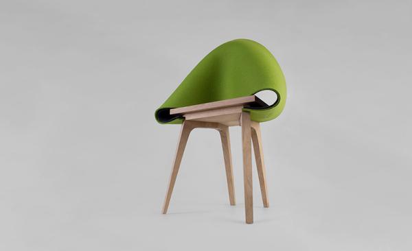 Nuno-стул и его гибкая войлочная спинка-сидушка.