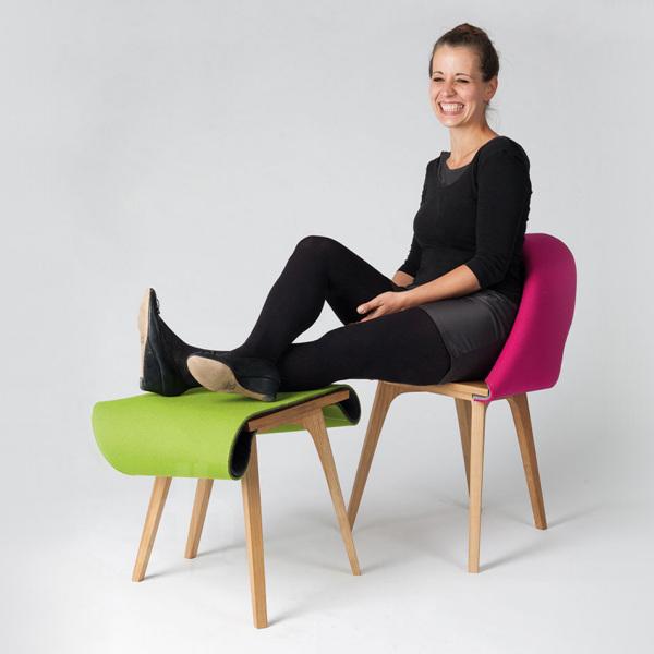 Дизайнер Emilia Lucht и её Nuno-стул.