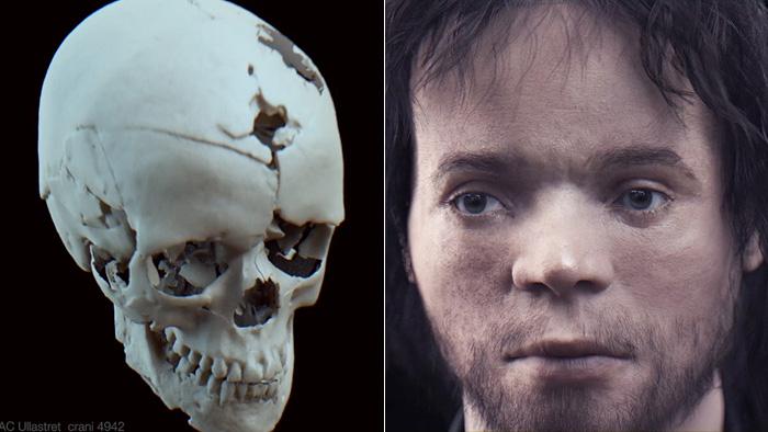 Внешность юноши, умершего 2500 лет назад, смоделированная на основе черепа.