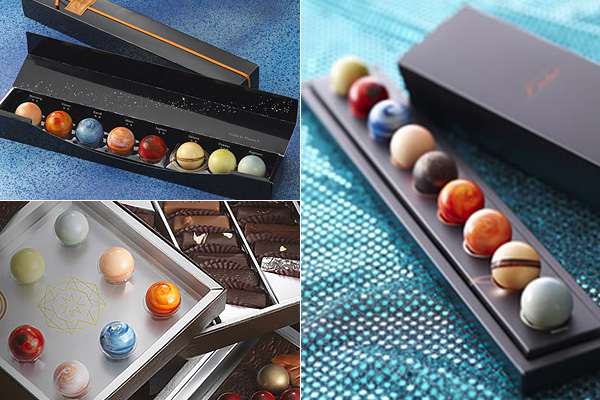 Шоколадные планеты от японской компании.