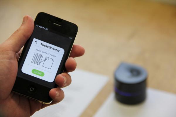 Роботизированный принтер, печатающий с любых портативных устройств.