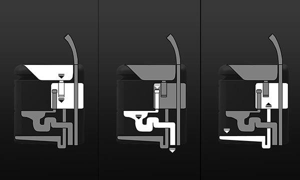 Q-Compact Toilet: система накопления воды.