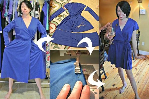 Писательница и дизайнер делает стильные наряды из вещей с барахолки.
