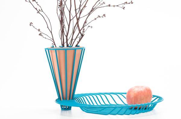 Контрастный минимализм вазы Blossom Fruit Bowl.