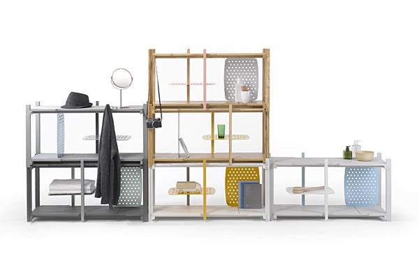 Система полок. Функциональный дизайн от тайской студии.