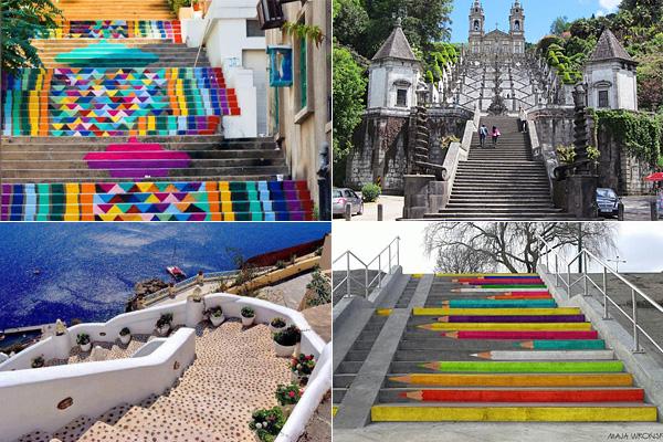 Необычные лестницы со всего света.