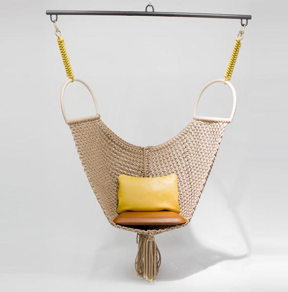 Коллекционное кресло в технике макраме.