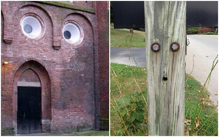 Смешные снимки, на которых вещи имеют весьма удивленные «лица».