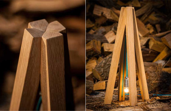 Лампа-типи от дизайнера Erik Remmers.