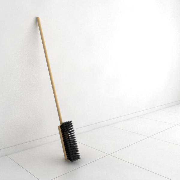 Швабра-щетка, которую неудобно использовать по назначению.