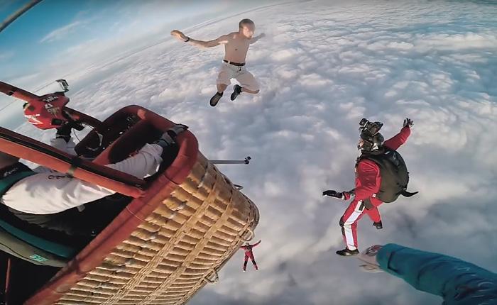 Прыжок без парашюта.