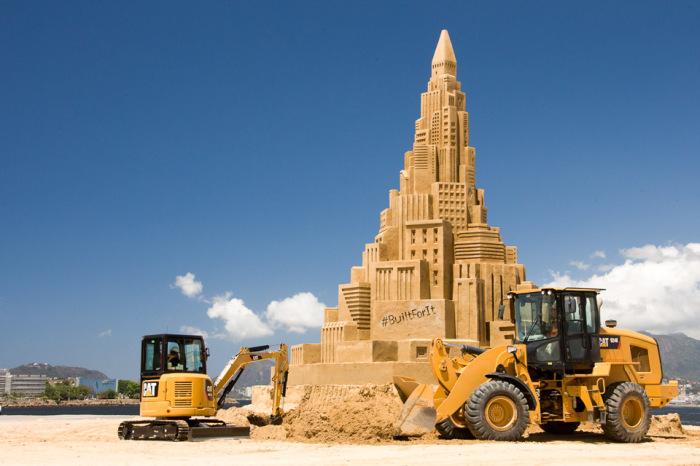 Самый высокий в мире небоскреб из песка.