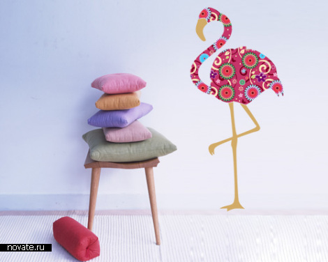 "Виниловая наклейка ""Фламинго"""