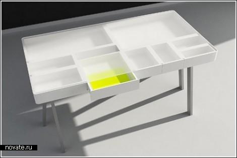 Стол Treasury с прозрачными ящиками
