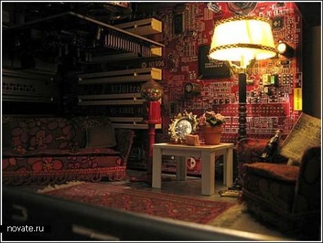 миниатюрная комната внутри корпуса ПК