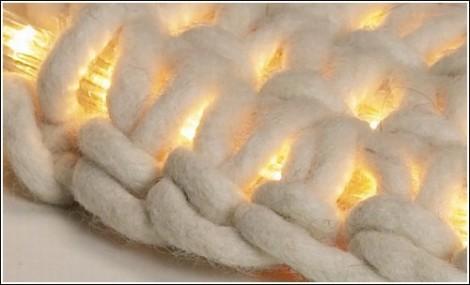Вязаный ковёр с подсветкой