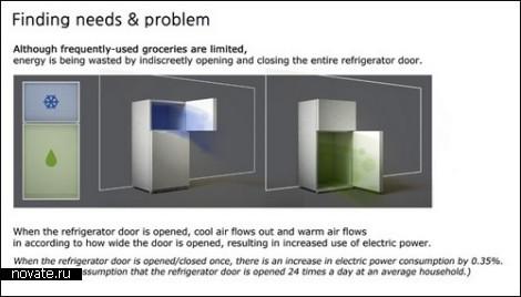 Концепт экономичного холодильника