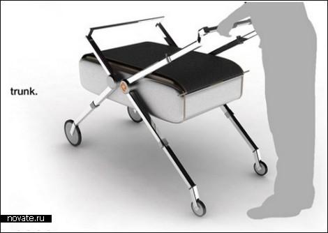 2 в 1: коляска и чемодан