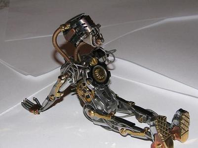 Стимпанк робот, Стимпанк роботы, Робот стимпанк, Как сделать двигающегося робота из бумаги.