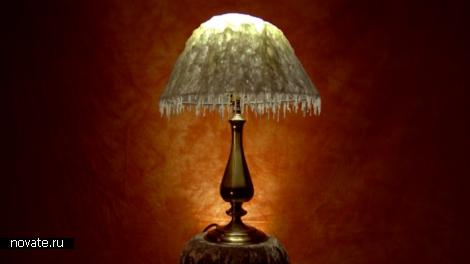 Лампа с абажюром из воска