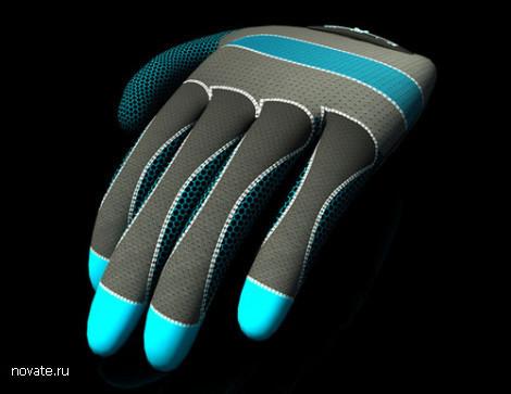Барабанная установка в виде перчаток