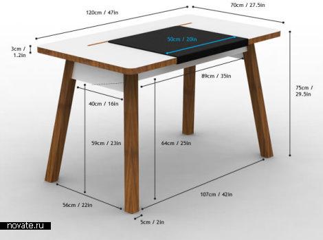 Стол без видимых проводов StudioDesk