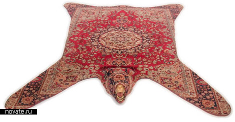 Персидский ковер, скрещенный со шкурой медведя