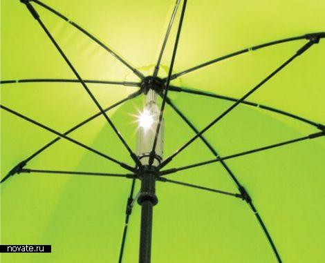 Зонт со встроенной лампой