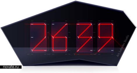 Часы с лазером и зеркалами