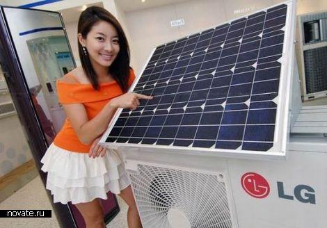 Экологичный кондиционер на солнечной батарее
