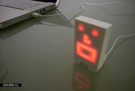 USB персонаж реагирующий на звуки