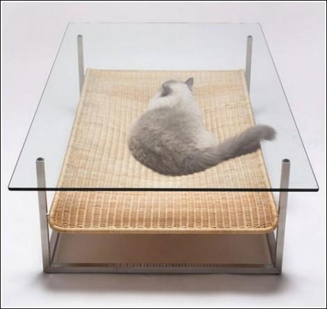 Забавное в интерьерах ( необычное, странное, смешное.... все сюда) Cat_bed_1