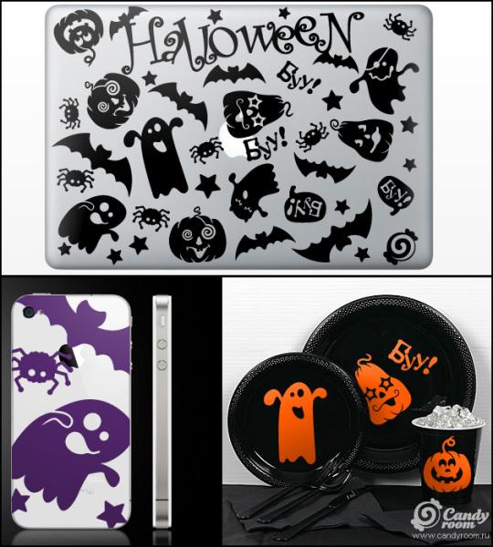Наклейка на ноутбук «Мини-halloween» от Candy room