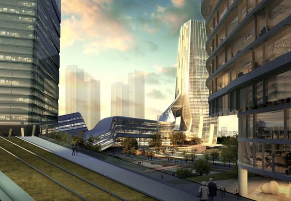 Galaxy Yabao Hi-Tech Enterprises Headquater Park – проект гармоничной интеграции современного города в сельскую среду