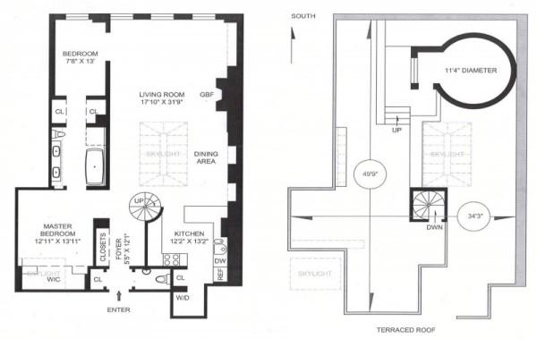 Two Bedroom Apartment – коттедж из водяного бака на крыше нью-йоркского небоскреба