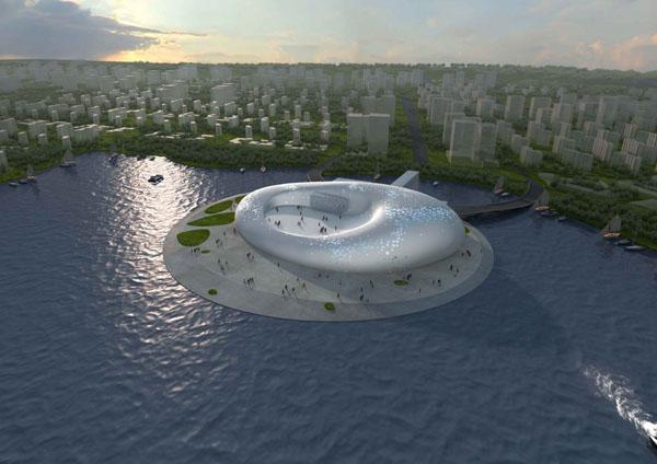 Yingkou Convention and Exposition Center – футуристический выставочный центр в Китае
