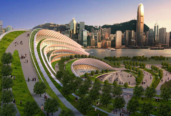 Express rail link west kowloon terminus le meilleur for Architecture futuriste