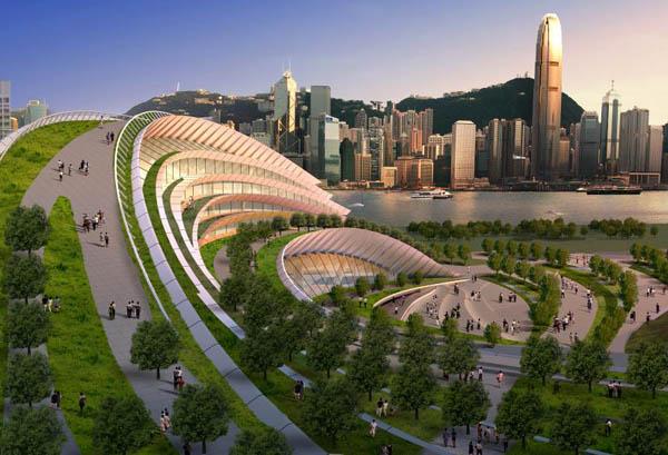 Express Rail Link West Kowloon Terminus – лучший футуристический проект года