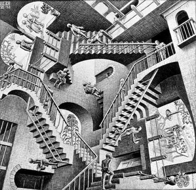 Рисунок Корнеелиса Эшера (Maurits Cornelis Escher)