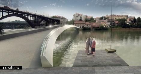 Проект пешеходного моста в Мариборе (Словения) от Arhitektura d.o.o.