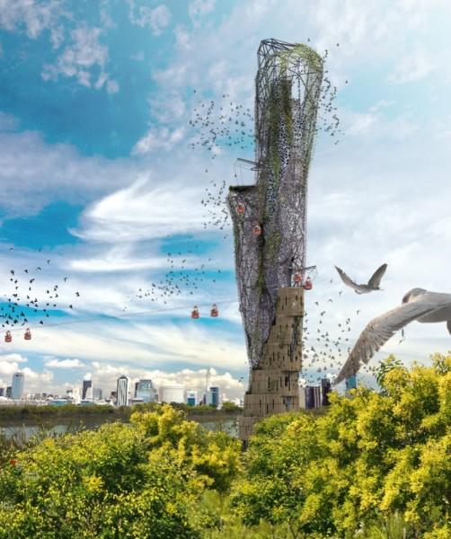 Футуристический проект небоскреба ECO-CLIFF в Буэнос-Айресе