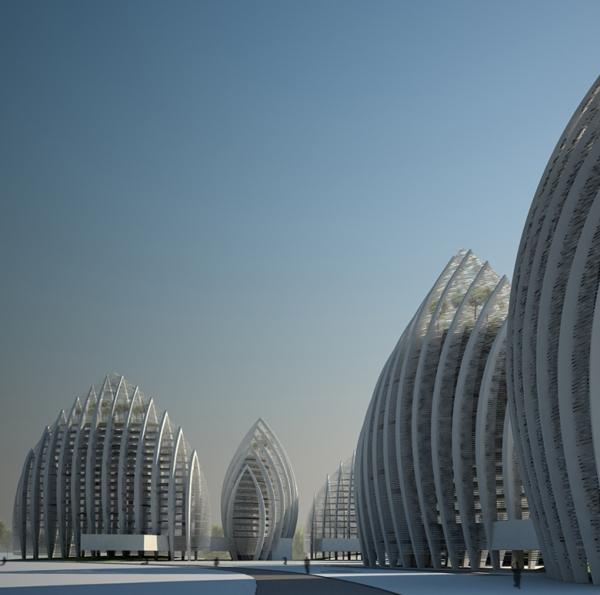 Проект жилого комплекса Putrajaya Waterfront Residential Towers от Studio Nicoletti Associati