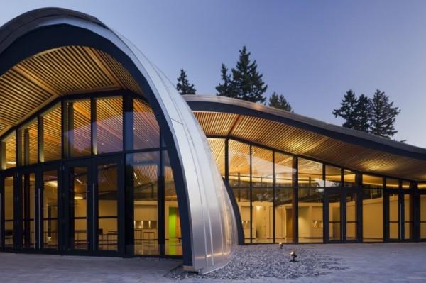 Органическая архитектура бротаническиого эко-сада в Ванкувере