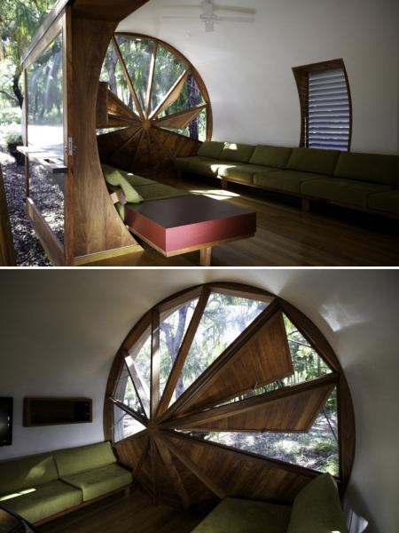 Параболическая архитектура эко-дома Drew House в Австралии