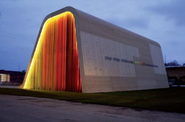 Испанский павильон природных материалов в Нидерландах