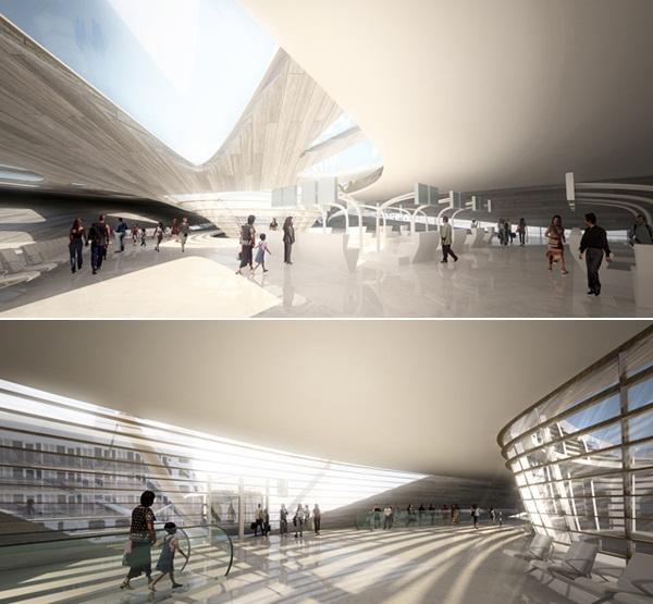 Проект международного порта для Гаосюна (Тайвань) от Maxthreads Architectural Design